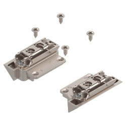AVENTOS HK-S do małych frontów uchylnych, Mocowanie frontu do wąskiej ramki aluminiowej (zestaw), na wkręty
