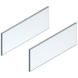 LEGRABOX element dekoracyjny - bok, wysokość 138 mm, dł. 650 mm, szkło przezroczyste, 2 szt. w kpl. , do LEGRABOX free