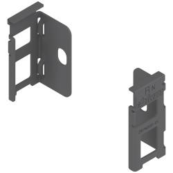 Uchwyt drewnianej ścianki tylnej LEGRABOX, wys. N (80 mm), prawy+lewy