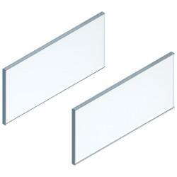 LEGRABOX element dekoracyjny - bok, wysokość 138 mm, dł. 400 mm, szkło przezroczyste, 2 szt. w kpl. , do LEGRABOX free