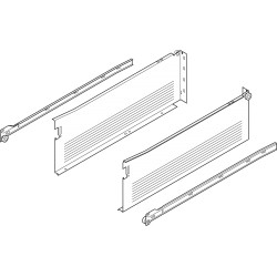 METABOX bok H (150 mm), częściowy wysuw, 25 kg, dł. 400 mm, wersja na wkręty, lewy/prawy