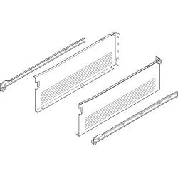METABOX bok H (150 mm), częściowy wysuw, 25 kg, dł. 500 mm, wersja na wkręty, lewy/prawy