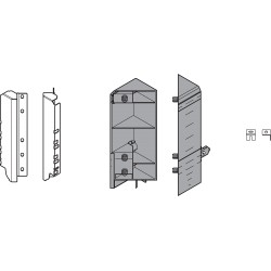 Mocowanie frontu TANDEMBOX, EXPANDO, zestaw, do TANDEMBOX intivo, SPACE CORNER