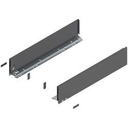 Bok szuflady LEGRABOX, wys. K (128,5 mm), lewy/prawy ANTRACYT