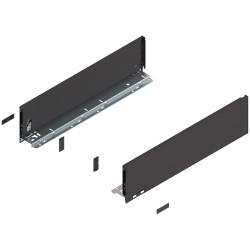 Bok szuflady LEGRABOX, wys. K (128,5 mm),  lewy/prawy CZARNY
